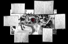 "Laila K-Croquis model – Foto: model/Laila, skitser/Carl Krull"""